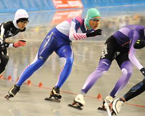 城西・夏目、男子5000決勝へ 全中スケート