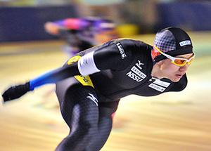 男子1000、渡部が2位 スピードスケート・ジャパン杯