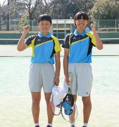 中村(庄内)岩浦(加納)選出 ソフトテニスU-14日本代表