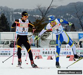 リレー男子6位、女子7位入賞 全中スキー