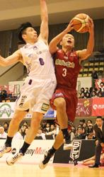 奈良2連勝、青森に競り勝つ バスケBリーグ