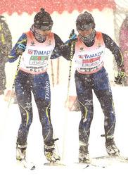 距離リレー女子・南砺平が13位 スキー高総体