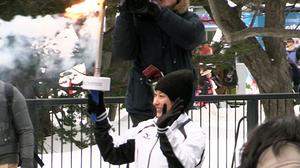 冬季アジア札幌大会 聖火リレー カムイノミ