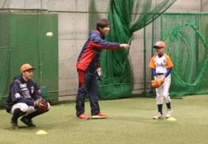 BCリーグ 新潟 「カトケン」が野球塾初登場 子どもたちに熱く指導