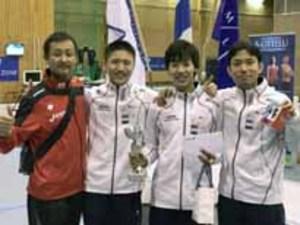 フェンシングジュニアW杯男子エペ 加納選手、日本人初V