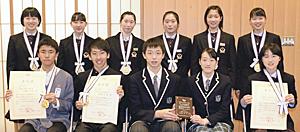学法石川高・遠藤らを表彰 FTVジュニアスポーツ大賞