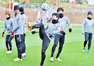 J1浦和、軽めのメニューで合宿打ち上げ 12日FCソウル戦