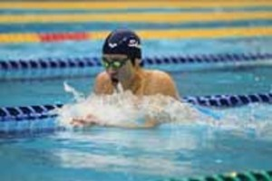 男子400メドレー、永原3位を死守 競泳・きららカップ