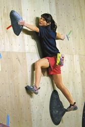 ボルダリング 14歳の伊藤「パワーつけたい」 代表合宿