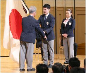 冬季アジア大会 本橋主将「最高のパフォーマンスを」 日本の結団式