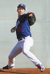 MLB ドジャースの前田、キャンプイン 2年目の余裕