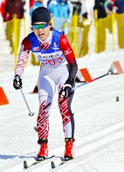 スキー距離 国体成年女子B5キロクラシカル 小林(岐阜日野自動車)優勝