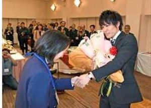 ボルダリング世界2連覇へ決意 楢崎智亜さんの優勝祝賀会