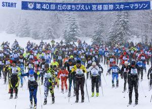 白銀の美瑛862人が滑走 宮様スキーマラソン
