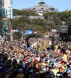 熊日30キロは上野初優勝 熊本城マラソン