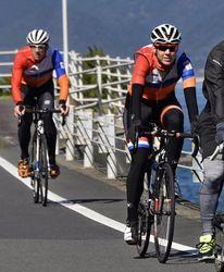 東京五輪 オランダの自転車コーチ、高知試走 合宿誘致へ招待