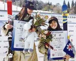 スキー 大回転少年女子 増毛出身の奈良さん国体3位報告