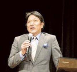陸上 箱根3連覇の秘話語る 青山学院大の原監督が三島市で講演