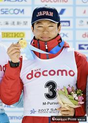 立崎(十和田出身)が金 冬季アジア大会バイアスロン