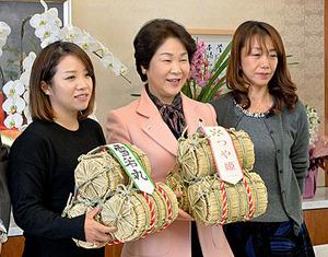 つや姫がパワーの源 女子プロゴルフ・大江選手