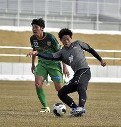 JFL 青森が勝利 八戸と練習試合
