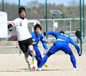 J2岐阜 富山と練習試合 サイド起点に得点