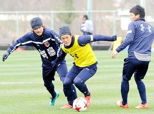 J1大宮 横谷が全体練習合流 4日FC東京戦