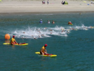 水泳 尾鷲オープンウオーターS、認定大会に 三木里海岸沖が会場