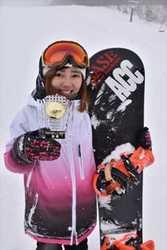 小鍛冶さん、全日本学生スノーボードクロスで初女王