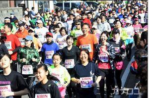 三浦で市民マラソン 1万2千人疾走