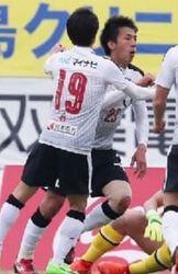 J2熊本、執念の同点劇 岡山に1-1