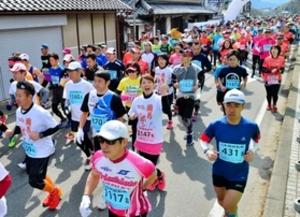 春の丹波路、8967人力走 篠山ABCマラソン