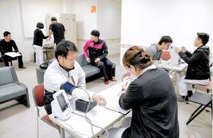 BCリーグ 福井、開幕前に健診 県予防医学協会が一役