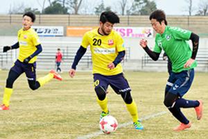 松江シティとJ3鳥取 練習試合 開幕向け連係確認