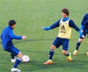 サッカー 小川(磐田)ら紅白戦 U-20代表候補合宿