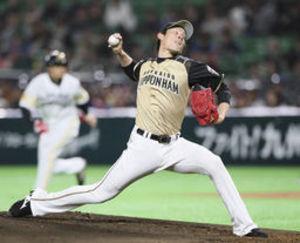 日本ハム 高梨、納得の3回1失点