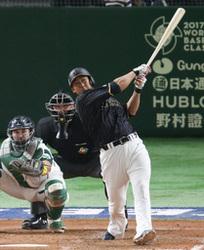 WBC  中田、一振り決勝弾 「失敗恐れず」初球打ち
