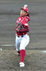 楽天 藤平、初めてプロ相手に登板 2回1失点