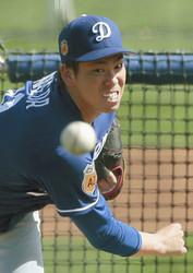 MLB ドジャースの前田、新球習得に手応え
