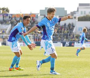J2横浜FCカズ、50歳ゴール 被災地「心の中にあった」
