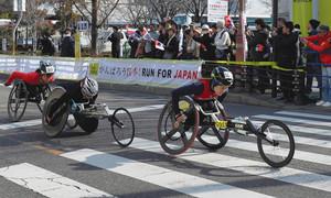 中山選手が初優勝 ホイールチェアマラソン