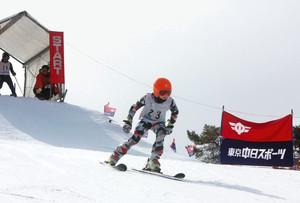 103人が旗門アタック 長野原でスキー大回転大会