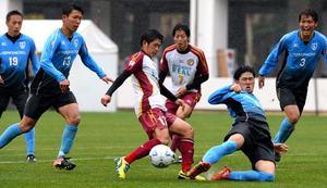サッカー 大学の強豪が宮崎市で強化試合
