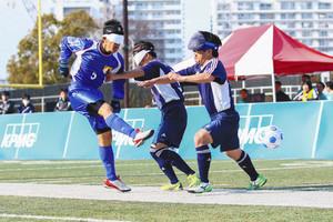 サッカー 川崎でブラインドサッカー選手権