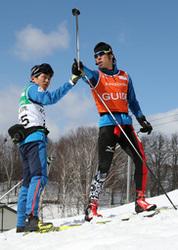 大舞台へ、高村選手とガイド藤田さん 障害者スキーW杯