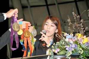 「夢大きく持って」吉田沙保里選手 福井で講演