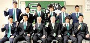 サッカー北信越リーグ 福井、新加入10選手が抱負