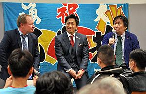 復興、W杯応援へラガーマン集結 東京でイベント