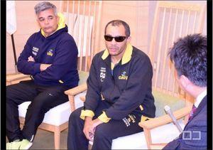 サッカー 川崎市長を表敬訪問 ブラインドサッカー選手