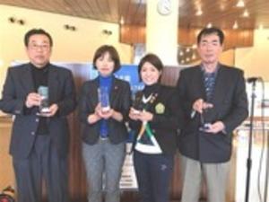 ゴルフ 青木・遠藤組、岩崎・太田組優勝 静岡県ダブルス・女子ダブルス